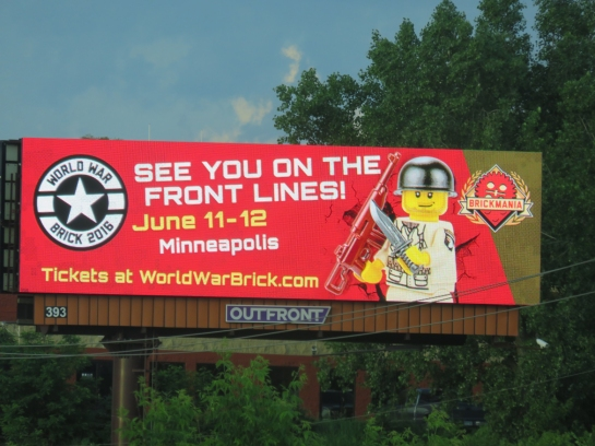 World War Brick Billboard